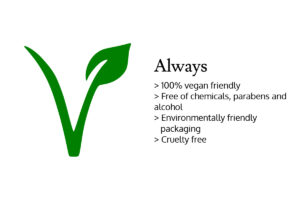 Always vegan friendly logo