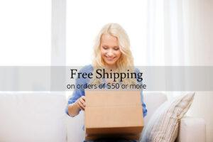 Free Shipping 50 Dollars and Up Orders