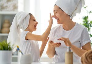 Seraj How You Can Use Our Creams - Mother and Daughter applying Skin Cream