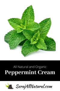 Seraj All Natural and Organic Peppermint Cream
