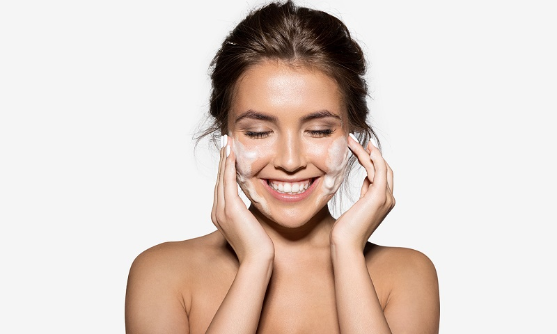 Top 5 Facial Skin Care Tips – Best (Simple) Ways to Take Care of Skin Naturally - Woman Cleansing Face
